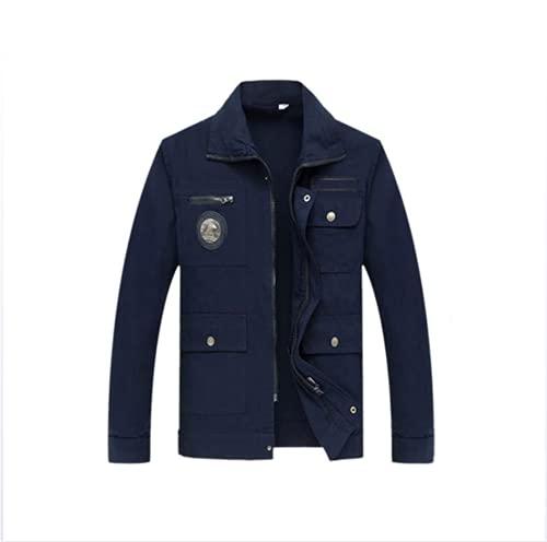 NHY Chaqueta de trabajo, resistente a los arañazos, resistente a las manchas, resistente al desgaste, adecuado para múltiples industrias, chaqueta de soldadura de algodón, azul, XXL