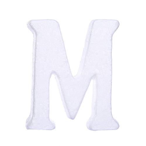 ZADAWERK® Styroporbuchstaben - 15 cm - M - groß- Deko - Hochzeit, Geburtstag