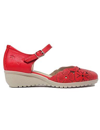Sandalias Planas para Mujer Fluchos F0183 Rojo