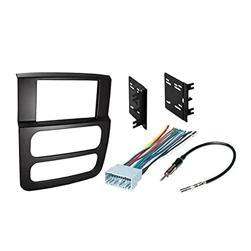 Anteprima Nuevo-2 Marco de Panel de Radio estéreo DIN Car DVD Panel Audio Montaje DE Montaje Kit Adaptador Ajuste para Dodge RAM 2002-2005