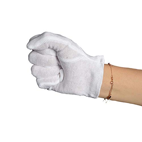 Ogquaton Los Guantes de Etiqueta de algodón Blanco de Performance para niños Guantes de Seguro de Trabajo para Conducir Guantes Antideslizantes para Montar