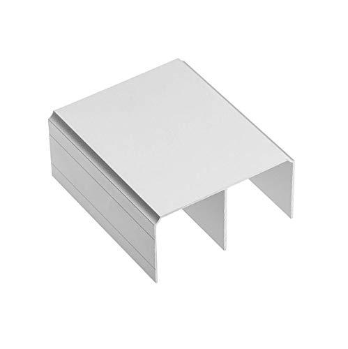1 riel superior de aluminio de 3 m para puertas correderas de armario, color plateado: Amazon.es: Bricolaje y herramientas