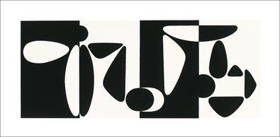 Germanposters Victor Vasarely Tampico Poster Kunstdruck Siebdruck Bild 50x100cm