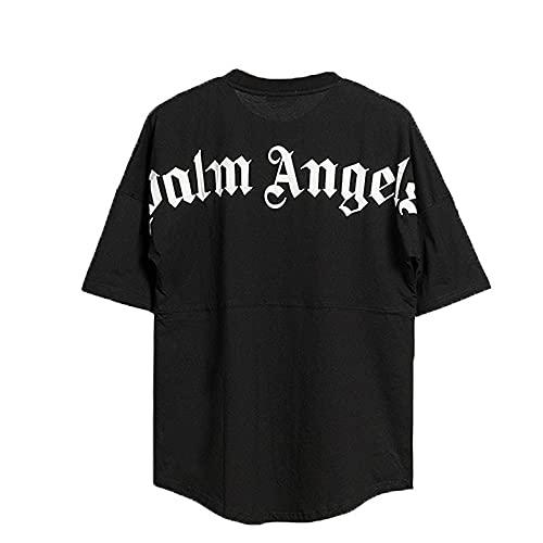 Herren- und Damen-T-Shirt Palm Angel Kurzarm-Casual-Buchstaben mit Rundhalsausschnitt aus Baumwoll-Fledermausärmeln, Sommeroberteile, Kurze Ärmel, Hemden mit kreativen Buchstaben