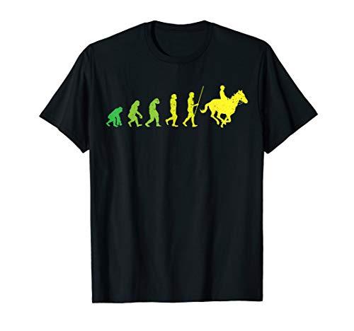 Evolution Reiter | Lustiges Pferdefreunde Pferde Reitsport T-Shirt