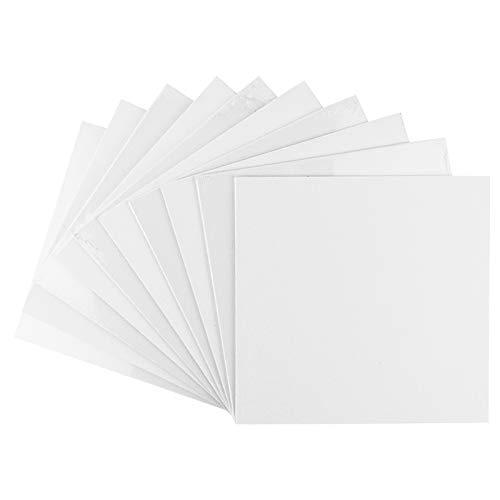 Ideen mit Herz Malkartons in Akademie-Qualität | Malpappe | Grundierte Leinwand-Pappe (20 x 20 cm | 10 Stück)