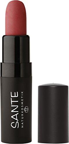 SANTE Naturkosmetik Lipstick Mat Matt Matte Lippenstift, 02 Pure Rosewood Rosé, Matt-Effekt, Intensive Farbpigmentierung, 4,5g