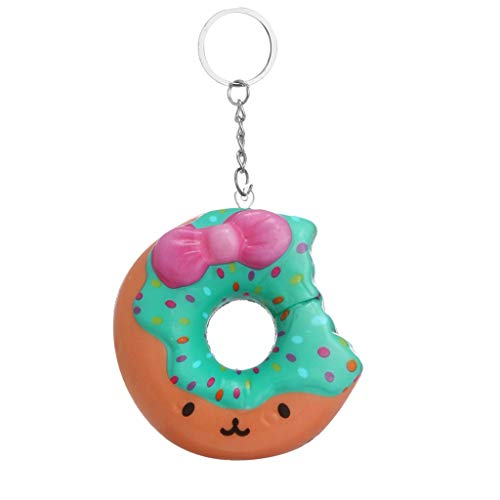 Donut langsam steigende Squishies Spielzeug Kawaii Squishies Langsame Schritte Squeeze Toy Anti-Stress Schlüsselbund Anhänger Emotionen entlüften Duftend Stressabbau Spielzeug für Kinder Erwachsene