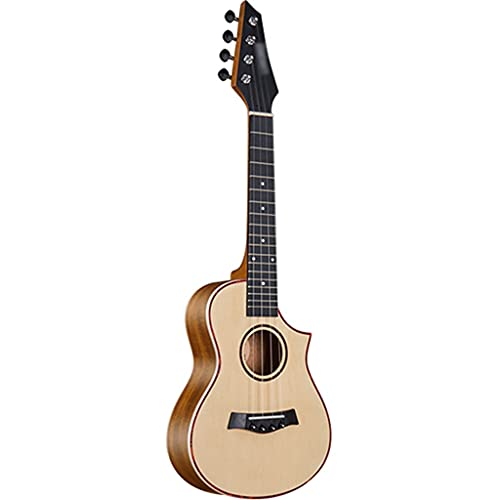 YHRJ Ukelele de 4 Cuerdas para Principiantes Adultos, Guitarra pequeña de Caoba de 23 Pulgadas, Instrumento de Cuerda portátil con Estuche (Color : C, Size : 23 Inches)