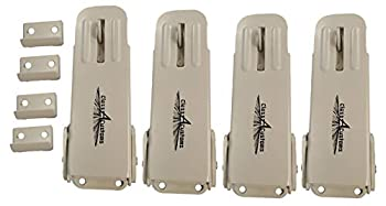 Class A Customs   Four  4  Pack of Ivory White Locking Fold Down Camper Latch and Catch