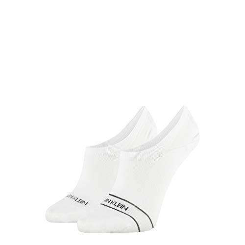 Calvin Klein Socks Womens Liner 2p Sparkle Stripe Alice Socks, White, ONE Size