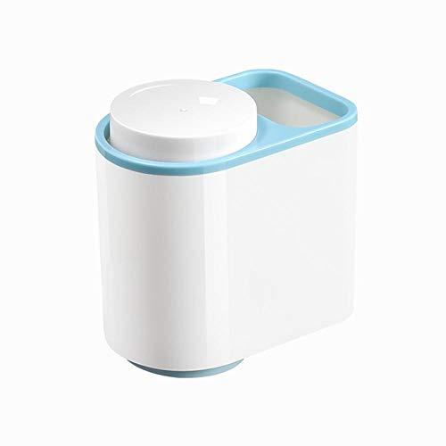 Vaso para cepillos de Dientes Los titulares de cepillo de dientes pasta de dientes con 2 Copa de baño Set de accesorios de plástico de almacenamiento for el cabrito adulto cepillo de dientes eléctrico