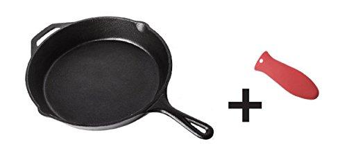 Sartén redonda de cocina, de hierro fundido con acabado de cera, para