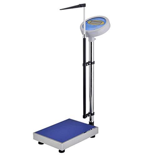 kaige Altura y Peso bascula electronica, el Nivel del Ojo Digital Escala del medico, con termometro y LCD de Alta definicion de Pantalla, Aluminio Ajustable Altura de mira WKY