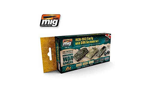 Ammo MIG-7116 zestaw farb akrylowych wczesnych i Dak (6 x 17 ml), wielokolorowy