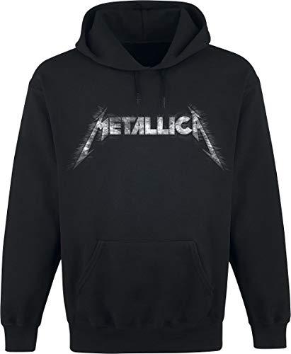 Metallica Spiked Logo Männer Kapuzenpullover schwarz L 80% Baumwolle, 20% Polyester Band-Merch, Bands