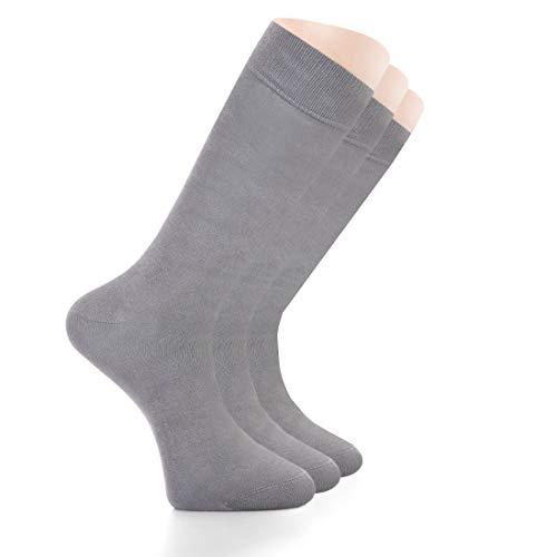 Womens Bamboo Dress Socks, Seamless, Crew, Size: 6-9 & 9-12 (3 Pairs)