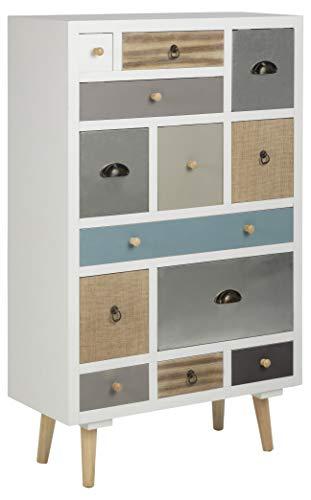 AC Design Furniture Kommode Suwen, B: 70 x T:30 x H: 114 cm, MDF, Mehrfarbigen