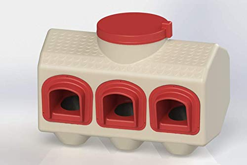OverEZ Chicken Feeder, Holds 50 LBS of Feed, No Spill, Outside/Inside Use, Automatic