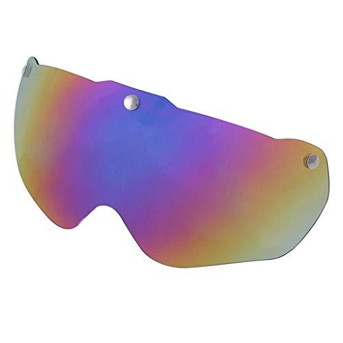 sharprepublic Protección UV Gafas de Repuesto Lente magnético len Visor para Bicicleta Casco Piezas de reparación componentes - Multicolor