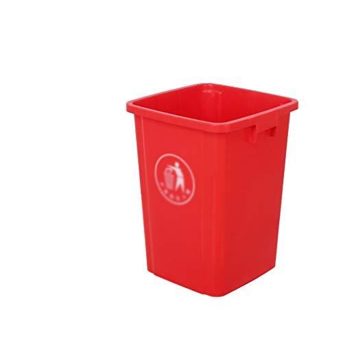 LJ-KK SZQ-ubos de Basura para Exterior 60L Bote de Basura, Basura del hogar y sin Cubierta de plástico Papelera de Reciclaje de Estar Cocina Jardín al Aire Libre Bote de Basura, para Hotel/Calle