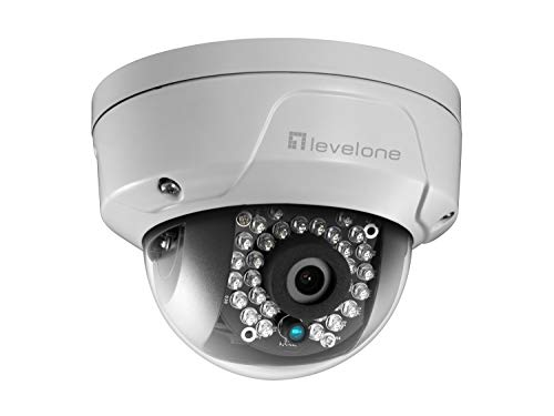 LEVEL ONE CAMARA IP NO WIFI DOMO EXTERIOR 3840X2160 4K IR LED SOLO ALIMENTACION POE