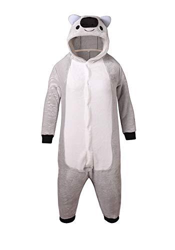 youlsun Kids Animal Halloween Costume, Deluxe Kids Onesie Pajamas for Boys&Girls (105, Koala)