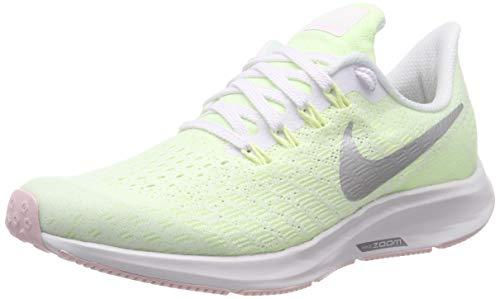 Nike Air Zoom Pegasus 35 (GS), Zapatillas de Running Hombre, Multicolor (White/Metallic Silver/Barely Volt 100), 38.5 EU