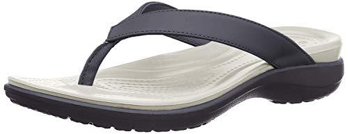 crocs Damen Capri V Flip Flop, Blau (navy/pearl white), 37/38 EU