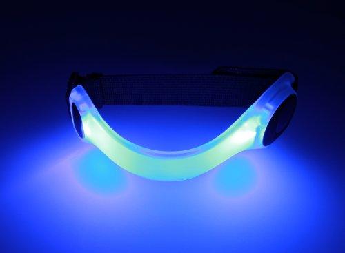 LED Fahrradlampe Spooti, Licht Armband Blinklicht joggen Outdoor Schulweg Kinder Fahrrad Hundehalsband (blau)