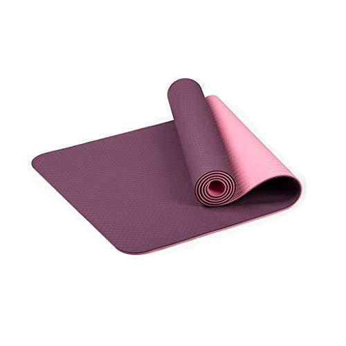 Yogamatte Pilatesmatte Juliyues Gymnastikmatte extra dick hohe Dichte Yogamatte Anfängerkissen Yogamatte rutschfest rutschfest weich Sportverlierung Yogamatte - Maße 183cm Länge 61cm Breite