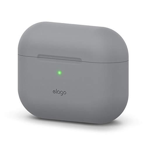 elago Original Funda de Silicona Compatible con AirPods Pro (2019) - 360° Protección de Cuerpo Completo, Premium Silicona [Ajuste Probado] (Gris Medio)