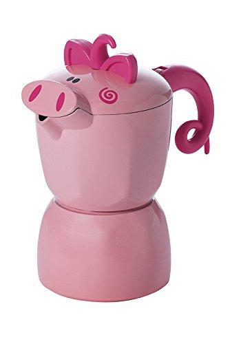 Excelsa Maialetto - Cafetera de espresso manual, color rosa: Amazon.es: Hogar