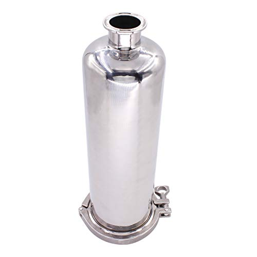 DERNORD 1.5 Inch Tri-Clamp Filter - SS304 Sanitary Fittings Inline Straight Strainer with 100 Mesh Stainless Steel Screen