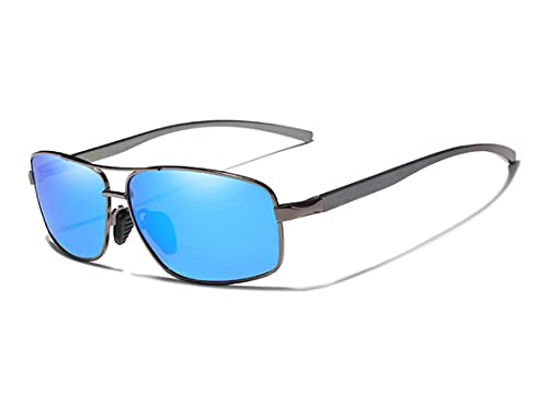 Gafas de sol de aluminio con marco polarizado ultraligero gafas de sol hombres mujeres Uv400 lente espejo clásico estilo retro gafas de sol Orignal