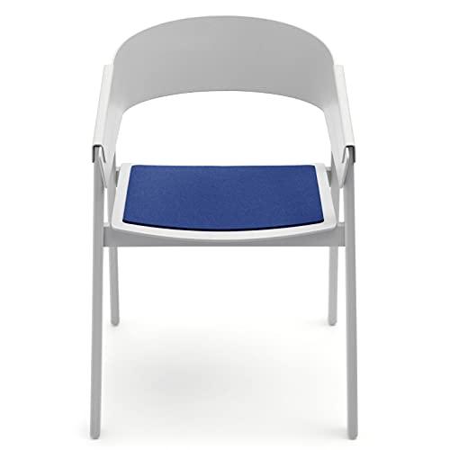 Hey-Sign Sitzauflagen Cover Chair 4-teilig in vielen Farben, Modell:1 x 5 mm - einfach, Farbe:36 - Stone