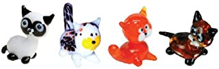 Looking Glass Miniature Collectible - Siamese / Calico / Tabby / Kitten (4-Pack)