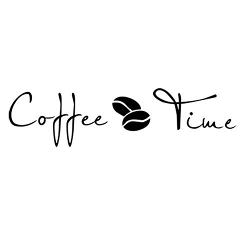 Cupcinu Etiqueta de Pared Frase Inglesa Pegatinas de Pared del Coffee Time Etiqueta de Pared Grande Adhesivo de Pared para Cafe Cocina Sala de Estar Decoración 57x30.2cm