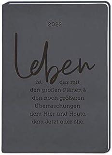 "Terminplaner Lederlook A6 ""Schwarz"" 2022: Terminplaner Lederlook A6"