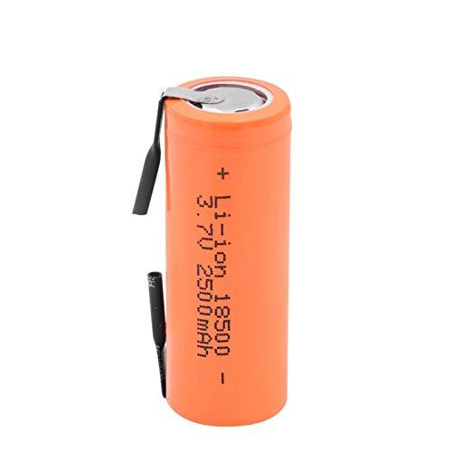 3.7v 2500mah 18500 Batería De Iones De Litio De Litio, con 2 PestañAs De Soldadura Celda para Linterna LED Mod MecáNico 10PCS