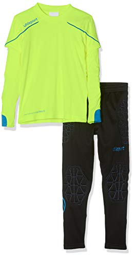uhlsport Kinder STREAM 22 TORWART-SET JUNIOR, fluo gelb/Radar blau, 164 (S)