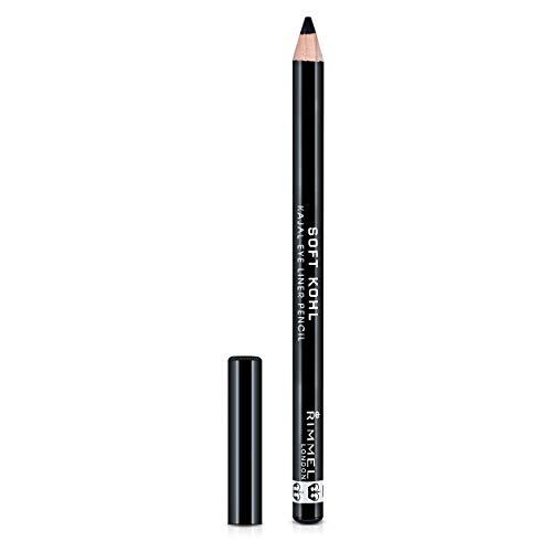 Rimmel - Crayon Soft Khôl - Couleur intense - Haute précision - 061 Jet Black - 1,2gr
