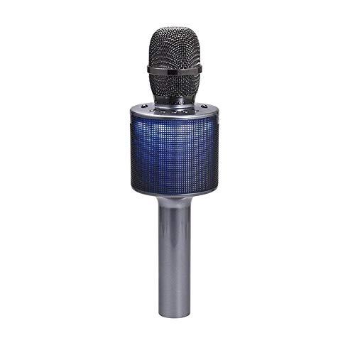 CHYE Handfunkmikrofone & Systeme, Wireless-Mikrofon-Karaoke Bluetooth Mic mit bunten Licht Magie-Handheld-Lautsprecher für Android/iPhone/PC und vieles mehr,Schwarz