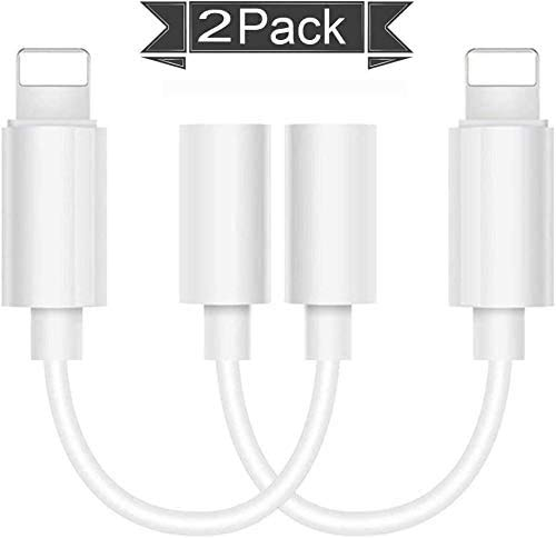 [MFi Certified] DTDX Lightning to 3.5mm Headphones/Earbuds Jack Adapter Aux Cable Earphones/Headphone Converter Accessories Compatible with iPhone11/Xs MAX/XR/X/8/8Plus/ipad/iPod Support iOS13/12/11