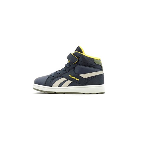 Reebok Bs7814, Basket Garçon Mixte Enfant, Multicolore (Collegiate Navy Sand Stone Yellow Green), 22.5 EU
