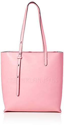 Calvin Klein Box N/s Tote W/Zipper, Cabas femme, Rose (Pop Pink), 1x1x1 cm (W x H L)