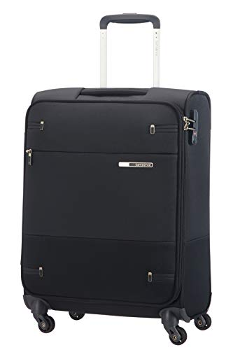 Samsonite Base Boost - Spinner S (Length: 40 cm) Hand Luggage, 55 cm, 39 Litre, Black