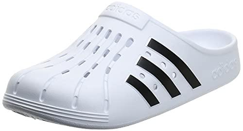 adidas Unisex Adilette Clog Dusch-& Badeschuhe, Mehrfarbig Ftwbla Negbás Ftwbla, 42 EU