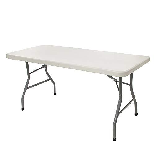 OEF Furnishings 5 Foot Heavy Duty Folding Table, 30' x 60', Light Grey