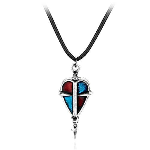 Davitu Anime Ao no Exorcist Blue Exorcist Cosplay Yukio Okumura Necklace College Badge Pendant statement Necklace - (Metal Color: women jewelry)